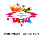 abstract splatter color... | Shutterstock .eps vector #1043275876