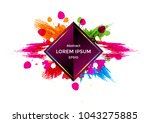 abstract vector  geometric with ... | Shutterstock .eps vector #1043275885
