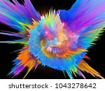 explosion of saturated virtual... | Shutterstock . vector #1043278642