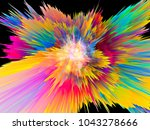 explosion of saturated virtual... | Shutterstock . vector #1043278666