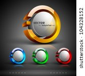 abstract 3d glossy icon sets in ... | Shutterstock .eps vector #104328152