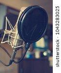 recording studio. vocal... | Shutterstock . vector #1043283025