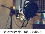 recording studio. vocal... | Shutterstock . vector #1043283028
