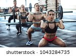 Group Of Sporty Muscular Peopl...