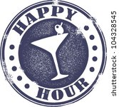 classic style happy hour... | Shutterstock .eps vector #104328545