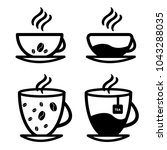 cup set vector. isolated on a... | Shutterstock .eps vector #1043288035