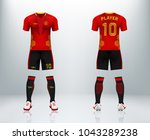3d realistic of front and back... | Shutterstock .eps vector #1043289238