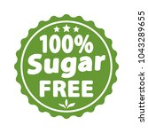 sugar free green label  sign.... | Shutterstock .eps vector #1043289655
