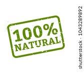 100  natural stamp sign white... | Shutterstock .eps vector #1043289892