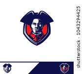 patriots logo design   Shutterstock .eps vector #1043294425