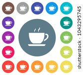 cup of coffee flat white icons...