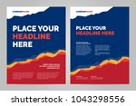 colorful brochure template... | Shutterstock .eps vector #1043298556