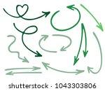 hand drawn diagram arrow icons... | Shutterstock .eps vector #1043303806