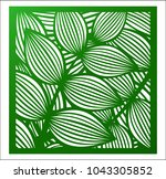 laser cutting square panel.... | Shutterstock .eps vector #1043305852