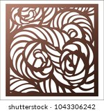 laser cutting square panel.... | Shutterstock .eps vector #1043306242