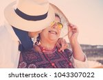 adults people stay together... | Shutterstock . vector #1043307022
