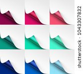 vector set of curled colored... | Shutterstock .eps vector #1043307832