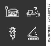 public transport chalk icons... | Shutterstock .eps vector #1043309572
