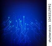 concept futuristic tech... | Shutterstock .eps vector #1043315992