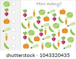 how many counting game with... | Shutterstock .eps vector #1043320435