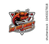 fish logo design template.... | Shutterstock .eps vector #1043327818