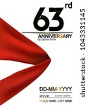 63rd anniversary design with... | Shutterstock .eps vector #1043331145