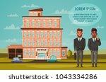 office building facade.... | Shutterstock .eps vector #1043334286