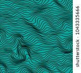 moire waves warped line texture ... | Shutterstock .eps vector #1043335666