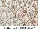 roman mosaic tiles  detail of... | Shutterstock . vector #1043342692