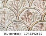 roman mosaic tiles  detail of... | Shutterstock . vector #1043342692