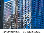 facing the building with a... | Shutterstock . vector #1043352232