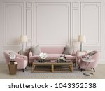 classic interior.sofa chairs... | Shutterstock . vector #1043352538
