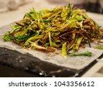 photo a leek salad. shooting in ...