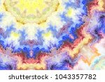 colorful horizontal striped... | Shutterstock . vector #1043357782