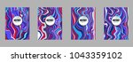 covers templates set with... | Shutterstock .eps vector #1043359102