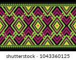 geometric ethnic pattern... | Shutterstock .eps vector #1043360125