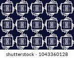 geometric ethnic pattern... | Shutterstock .eps vector #1043360128