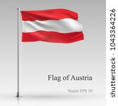 national flag of austria... | Shutterstock .eps vector #1043364226