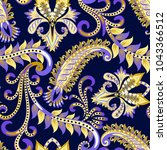 seamless contrast pattern with... | Shutterstock .eps vector #1043366512