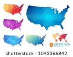 united states of americ map  ... | Shutterstock .eps vector #1043366842
