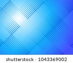 abstract blue halftone dots...   Shutterstock .eps vector #1043369002