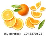 healthy food. sliced orange... | Shutterstock . vector #1043370628
