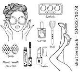 vector hand drawn sketch...   Shutterstock .eps vector #1043371078