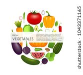 healthy vegetables such as ... | Shutterstock . vector #1043371165