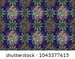 mandala colored background....   Shutterstock . vector #1043377615