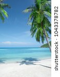 view of nice tropical beach... | Shutterstock . vector #1043378782