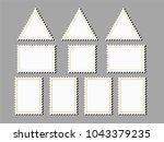blank postage stamps frames....   Shutterstock .eps vector #1043379235