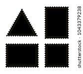 blank postage stamps frames....   Shutterstock .eps vector #1043379238