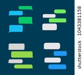 flat messages bubbles  | Shutterstock .eps vector #1043381158