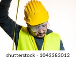 a man who wants to do a work... | Shutterstock . vector #1043383012
